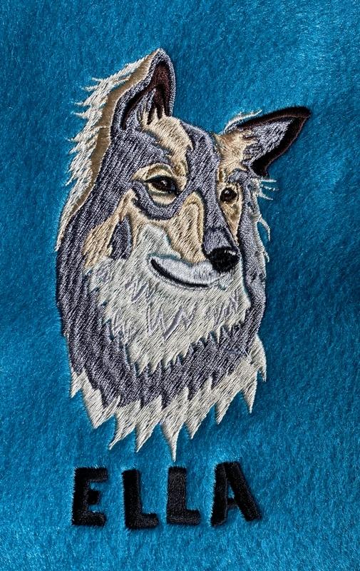 Schäferhund Stickmotiv