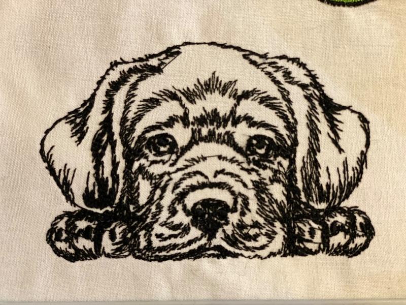 Labrador Stickerei